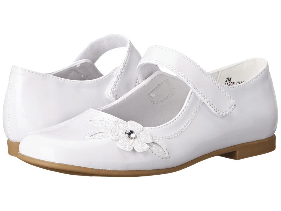Rachel Kids Charlene Little Kid/Big Kid White Patent Girls Shoes