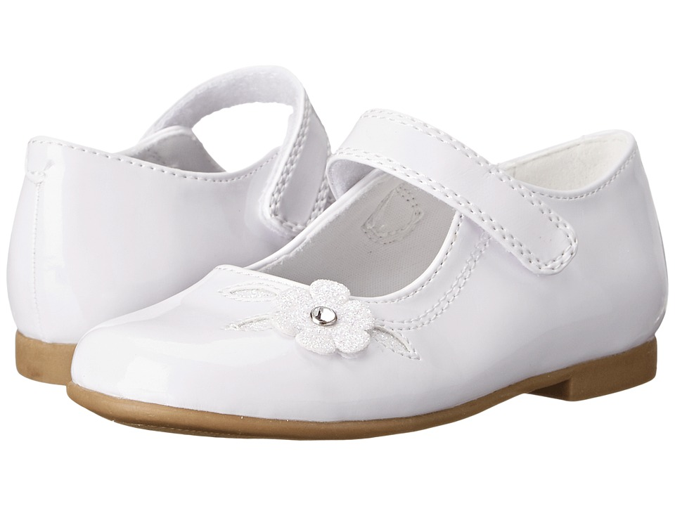Rachel Kids Lil Charlene Toddler White Patent Girls Shoes