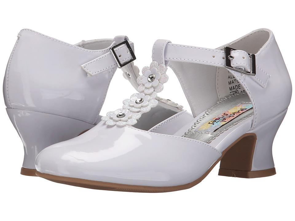 Rachel Kids Bianca 2 Little Kid/Big Kid White Patent Girls Shoes