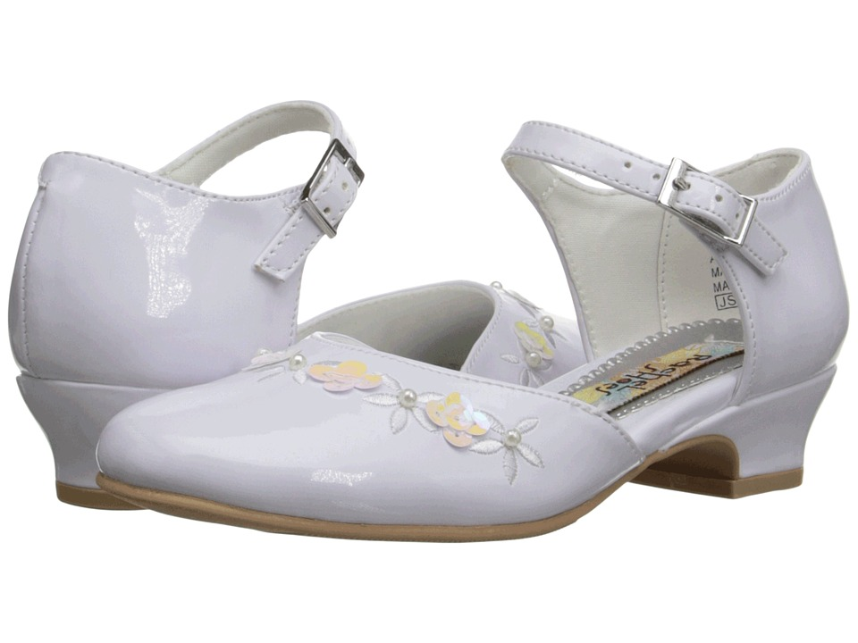 Rachel Kids Isla Little Kid/Big Kid White Patent Girls Shoes