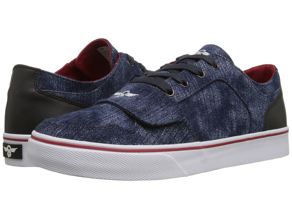 Creative Recreation Cesario Lo XVI Blue Denim/Black Mens Shoes