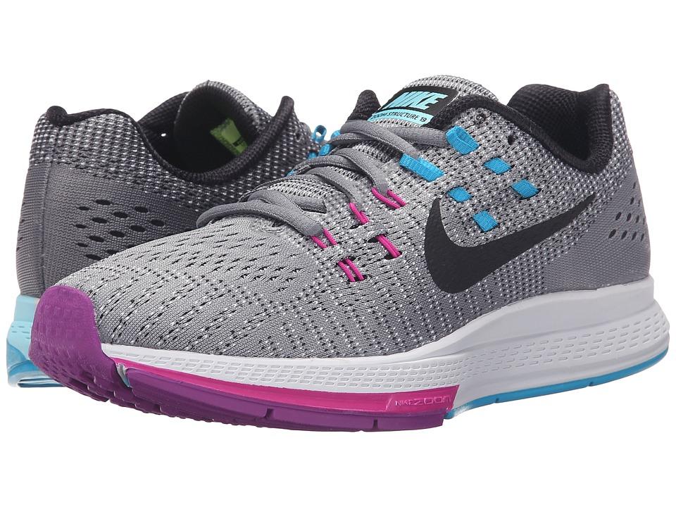 Nike Air Zoom Structure 19 (Cool Grey/Fuchsia Flash/Copa/Black) Women