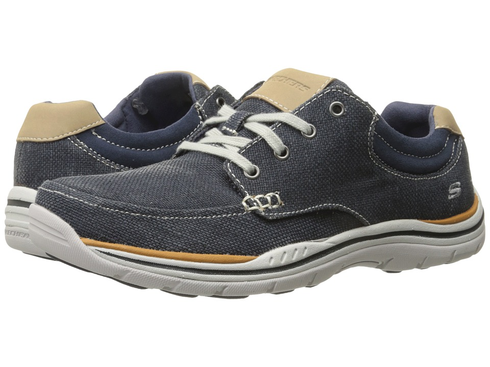 SKECHERS Relaxed Fit Expected Orman (Navy Canvas) Men