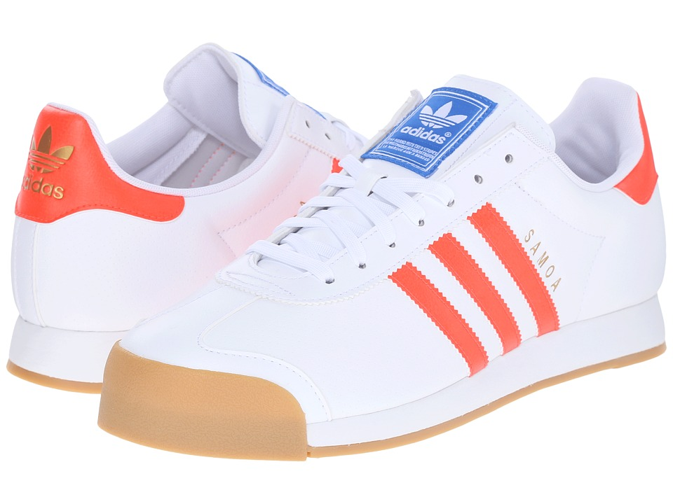 adidas Originals - Samoa (White/Solar Red/Gum (Perf Gum)) Men