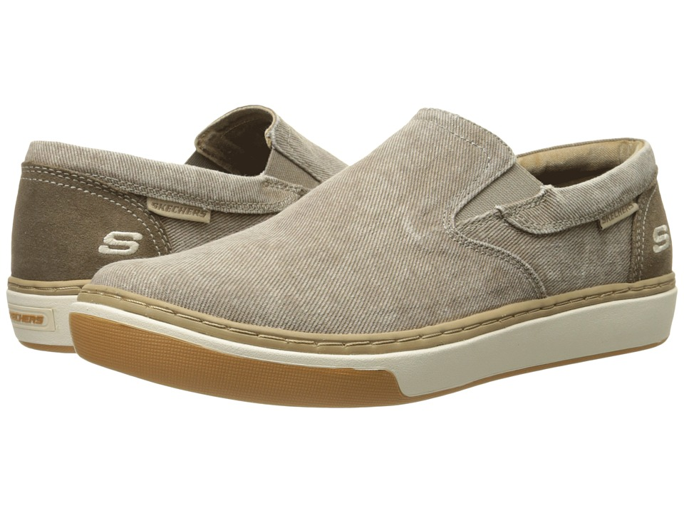SKECHERS - Relaxed Fit Palen - Tiago (Taupe Canvas) Men