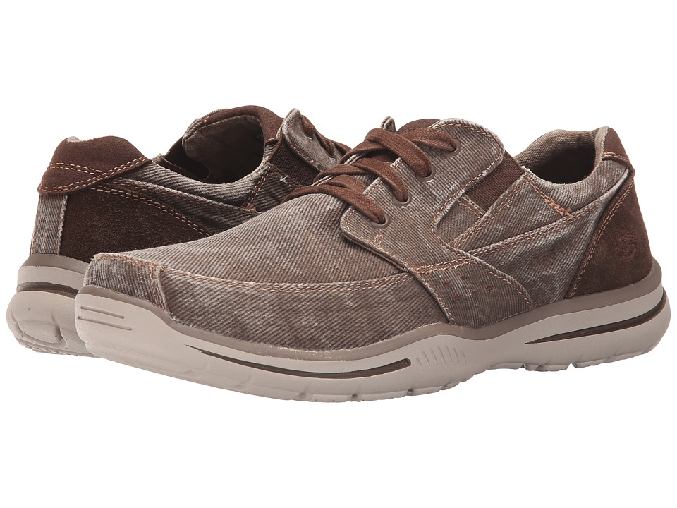 SKECHERS - Relaxed Fit Elected - Fultone (Cocoa Canvas) Men