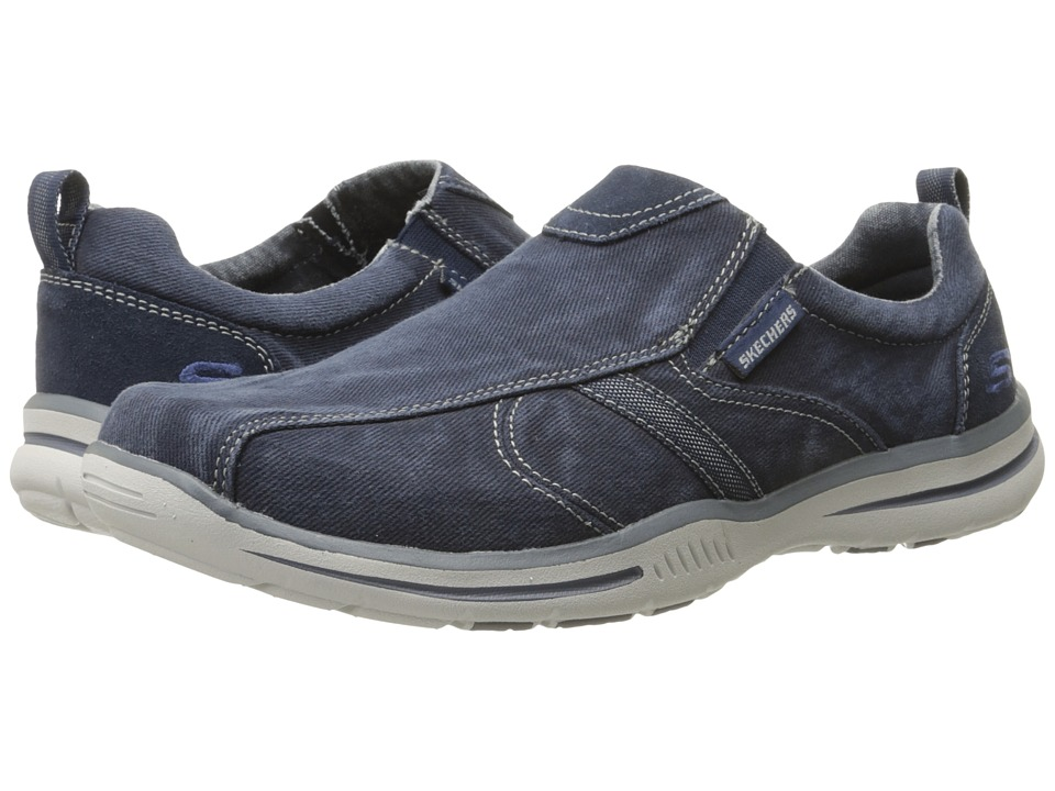 SKECHERS - Relaxed Fit Elected - Payson (Navy Canvas) Men