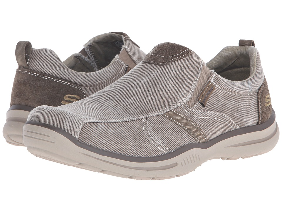SKECHERS - Relaxed Fit Elected - Payson (Light Brown Canvas) Men