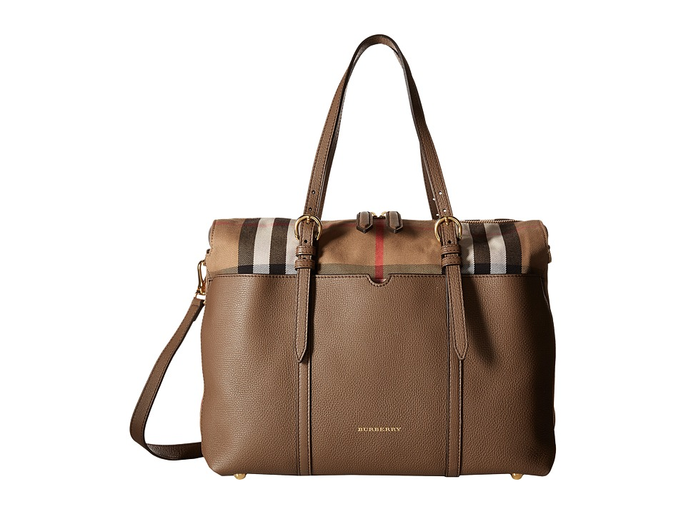 Burberry Kids Mason Diaper Bag (Taupe Grey) Diaper Bags