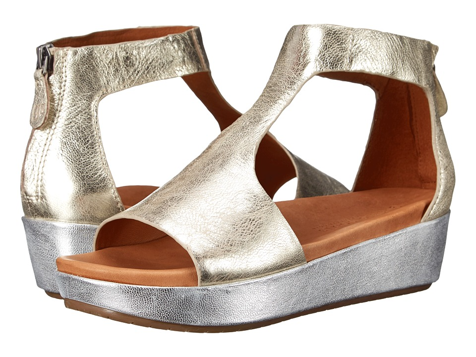 Gentle Souls Jefferson Gold Combo Leather Womens Shoes