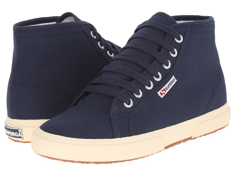 Superga 2095 COTU Navy/Off White Lace up casual Shoes
