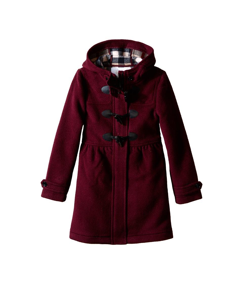Burberry Kids Ally Coat Little Kids/Big Kids Deep Burgundy Girls Coat