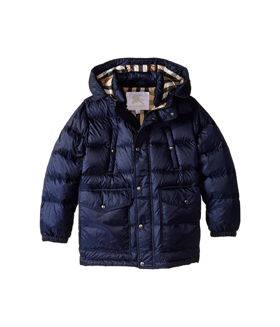 Burberry Kids Barnie Puffer Jacket Little Kids/Big Kids Military Navy Kids Coat