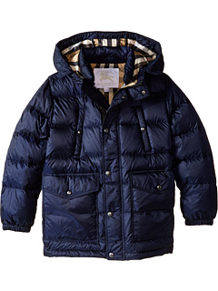 Burberry Kids Barnie Puffer Jacket (Little Kids/Big Military Navy