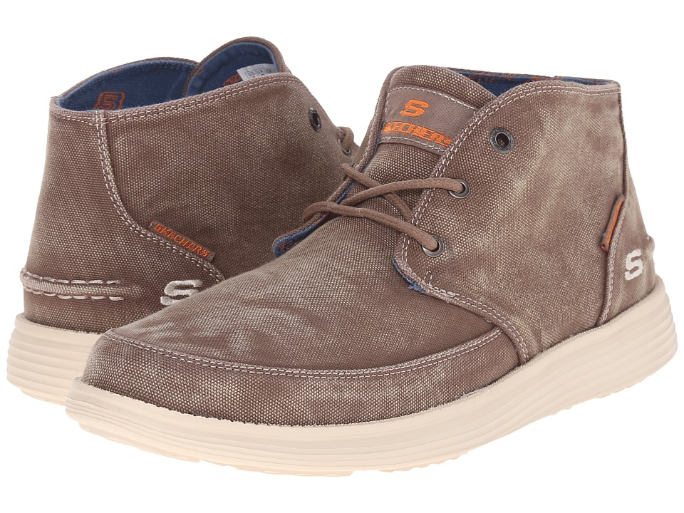SKECHERS - Relaxed Fit Status - Altone (Light Brown Washed Canvas) Men