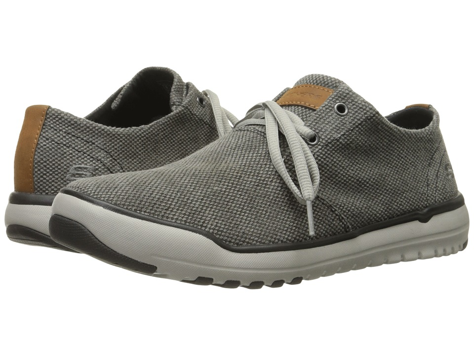 SKECHERS Relaxed Fit Oldis Stound (Black/Gray Canvas) Men