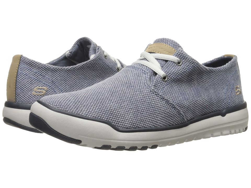SKECHERS - Relaxed Fit Oldis - Stound (Blue Canvas) Men