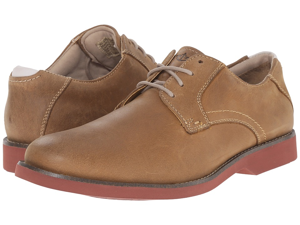 Dockers Crosby Taupe Waxy Crazyhorse Mens Lace up casual Shoes