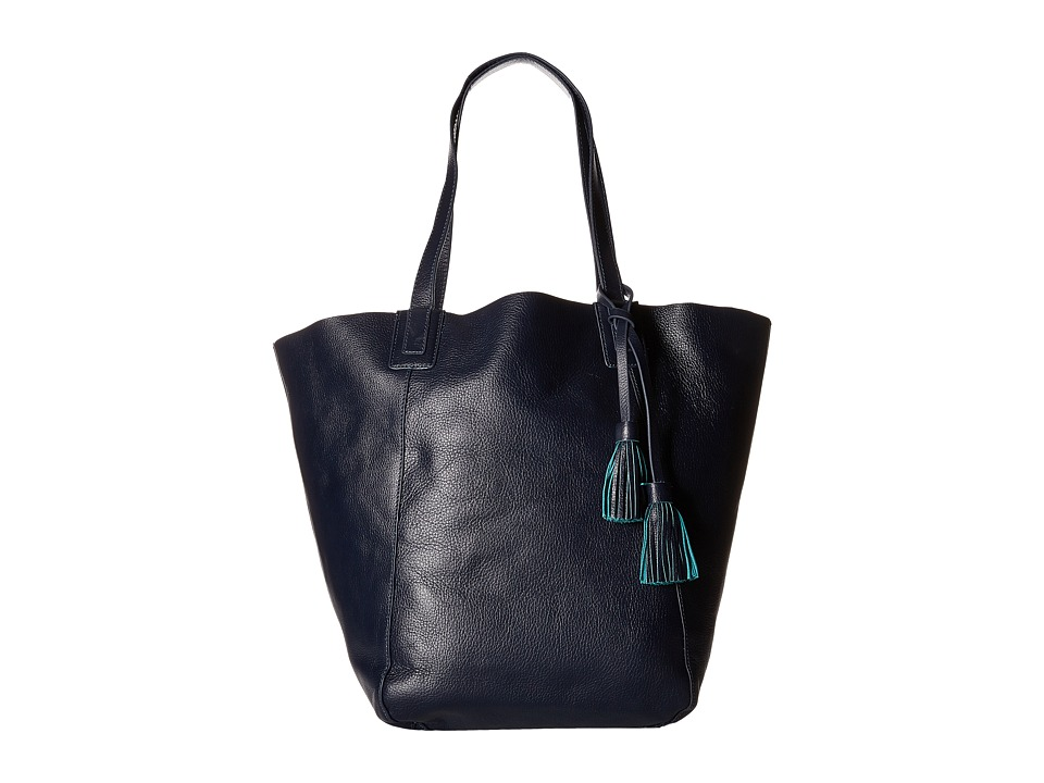 Lucky Brand Reese Reversible Tote Navy Teal Tote Handbags