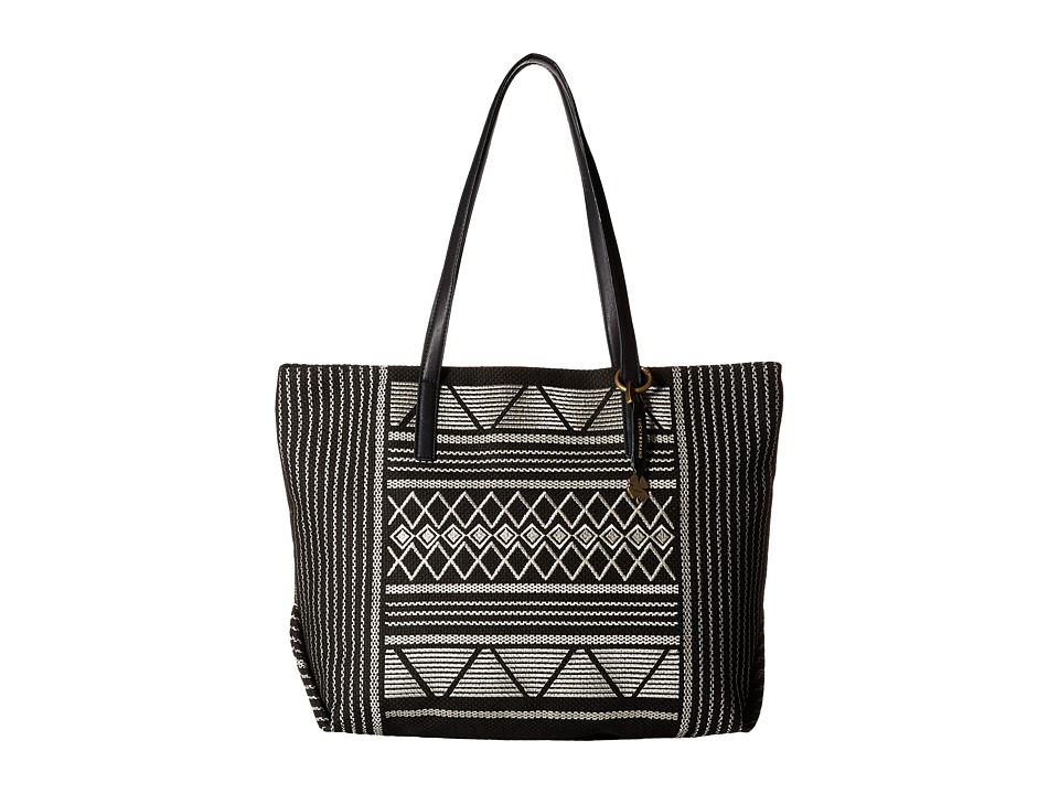 Lucky Brand - Cassis Top Zip Tote (Black) Tote Handbags
