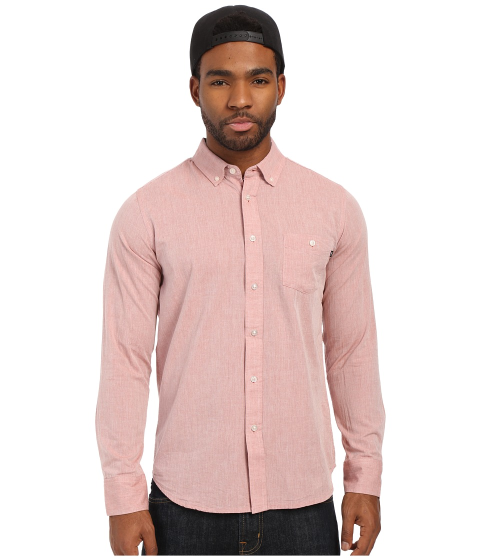 Obey Capital Long Sleeve Woven Top Picante Mens Long Sleeve Button Up