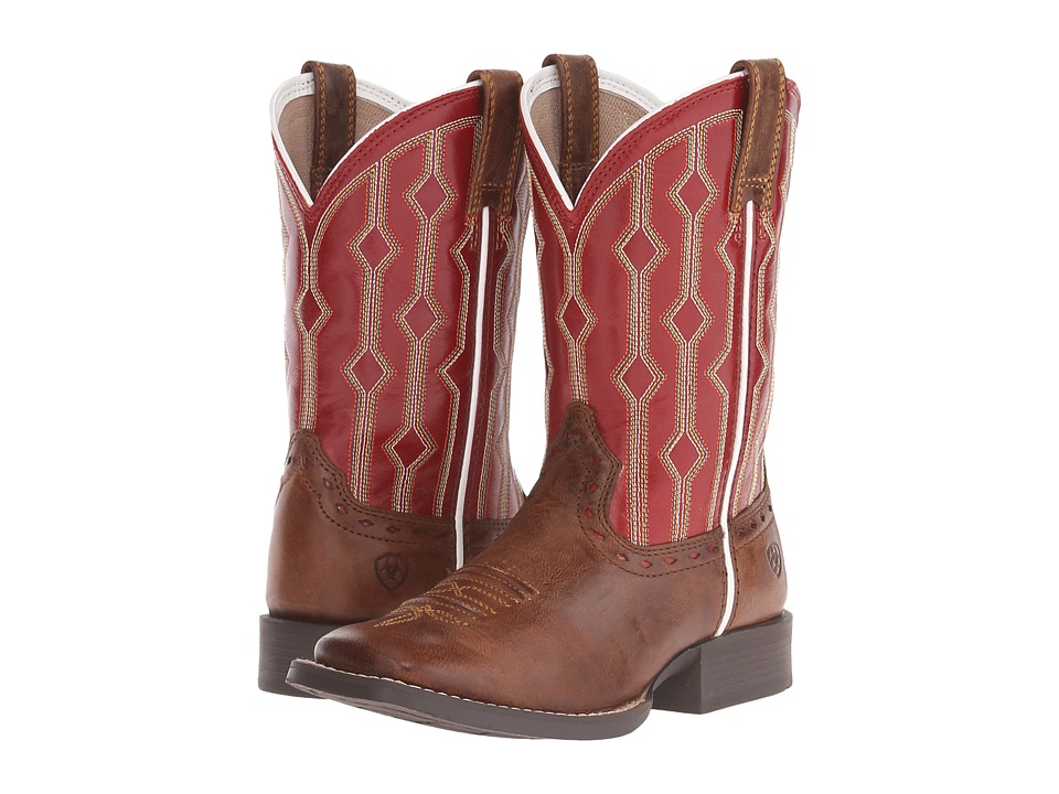 Ariat Kids Live Wire Toddler/Little Kid/Big Kid Wood/Mega Red Cowboy Boots
