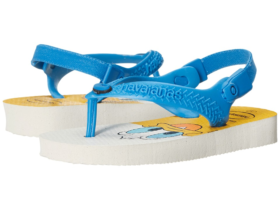 Havaianas Kids Disney Classics Toddler White/Turquoise Boys Shoes