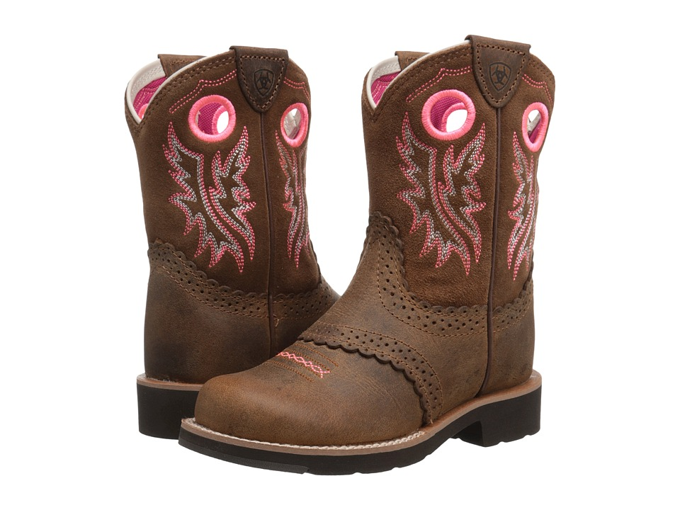 Ariat Kids - Fatbaby Cowgirl (Toddler/Little Kid/Big Kid) (Powder Brown/Western Brown) Girl