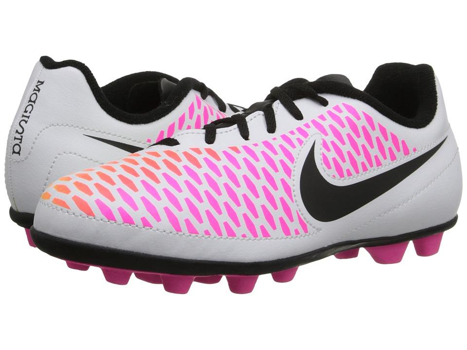 Nike Kids Jr Magista Ola FG R Soccer Little Kid/Big Kid White/Pink Blast/Volt/Black Kids Shoes