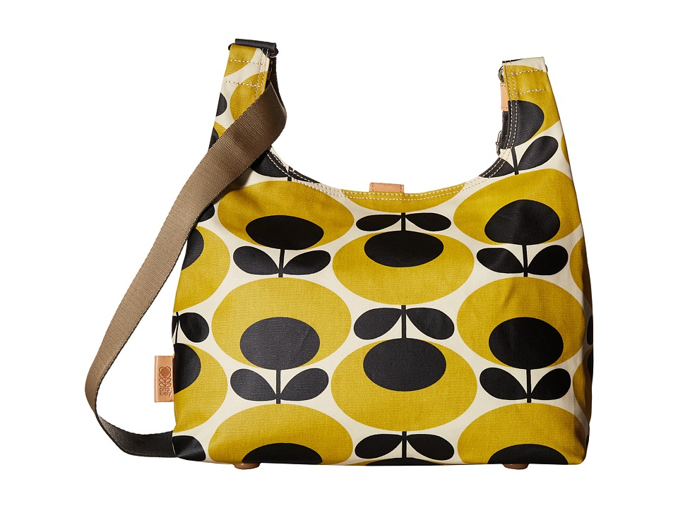 Orla Kiely Midi Sling Mustard Cross Body Handbags