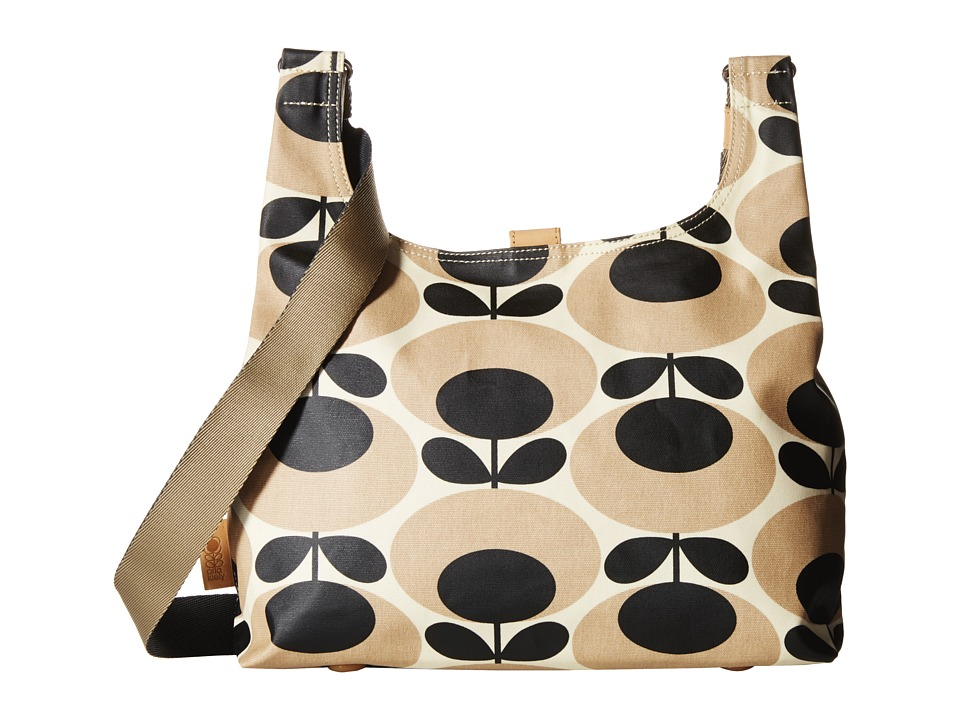 Orla Kiely Midi Sling Nude Cross Body Handbags