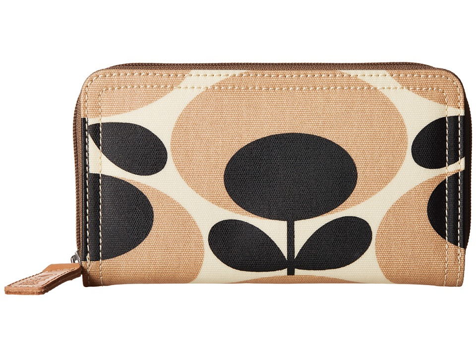 Orla Kiely Big Zip Wallet Nude Wallet Handbags