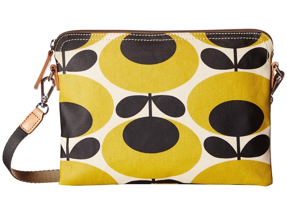 Orla Kiely Travel Pouch Mustard Cross Body Handbags