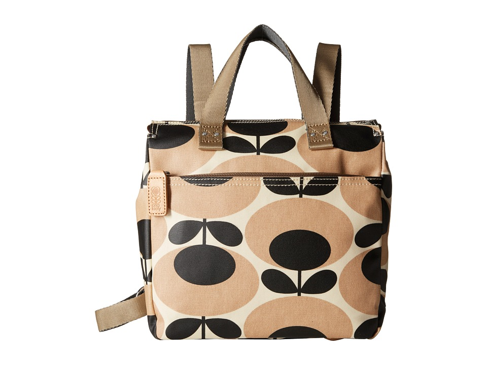 Orla Kiely Small Backpack Nude Backpack Bags
