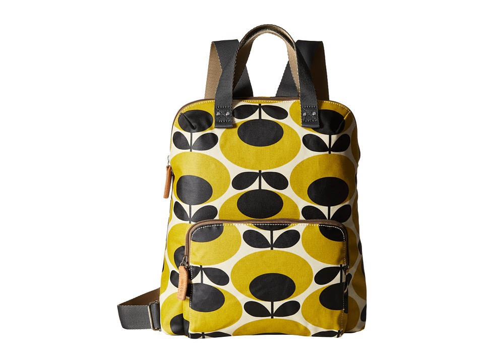 Orla Kiely Backpack Tote Mustard Backpack Bags