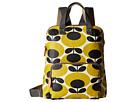 Orla Kiely Backpack Tote (Mustard)