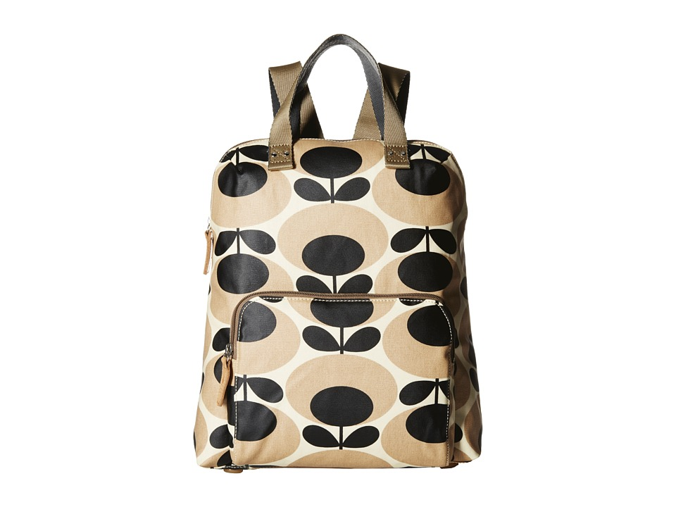 Orla Kiely Backpack Tote Nude Backpack Bags