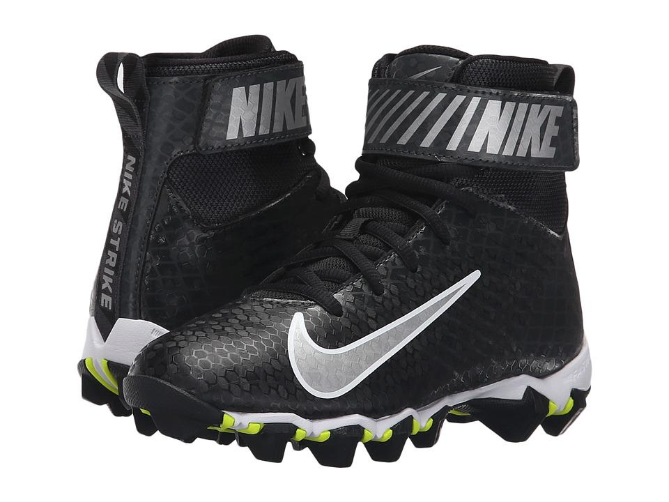 Nike Kids - Lunarbeast Shark BG Football (Toddler/Little Kid/Big Kid) (Black/Anthracite/Metallic Silver) Kids Shoes