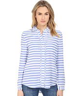 Kate Spade New York - Painterly Stripe Ruffle Shirt