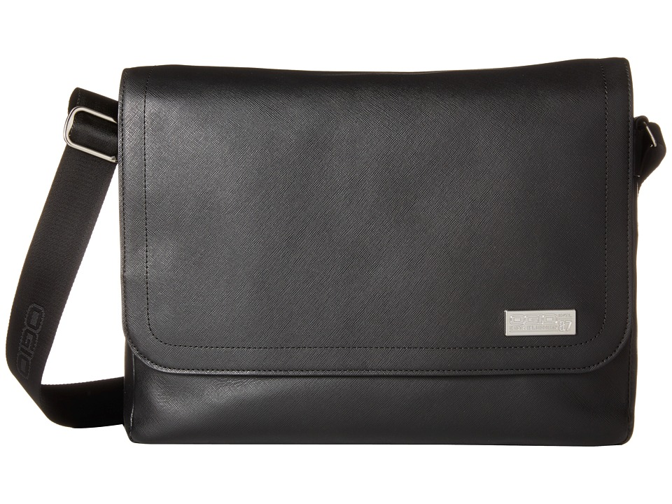 OGIO - Gran Premio All-Leather Messenger (Black) Messenger Bags