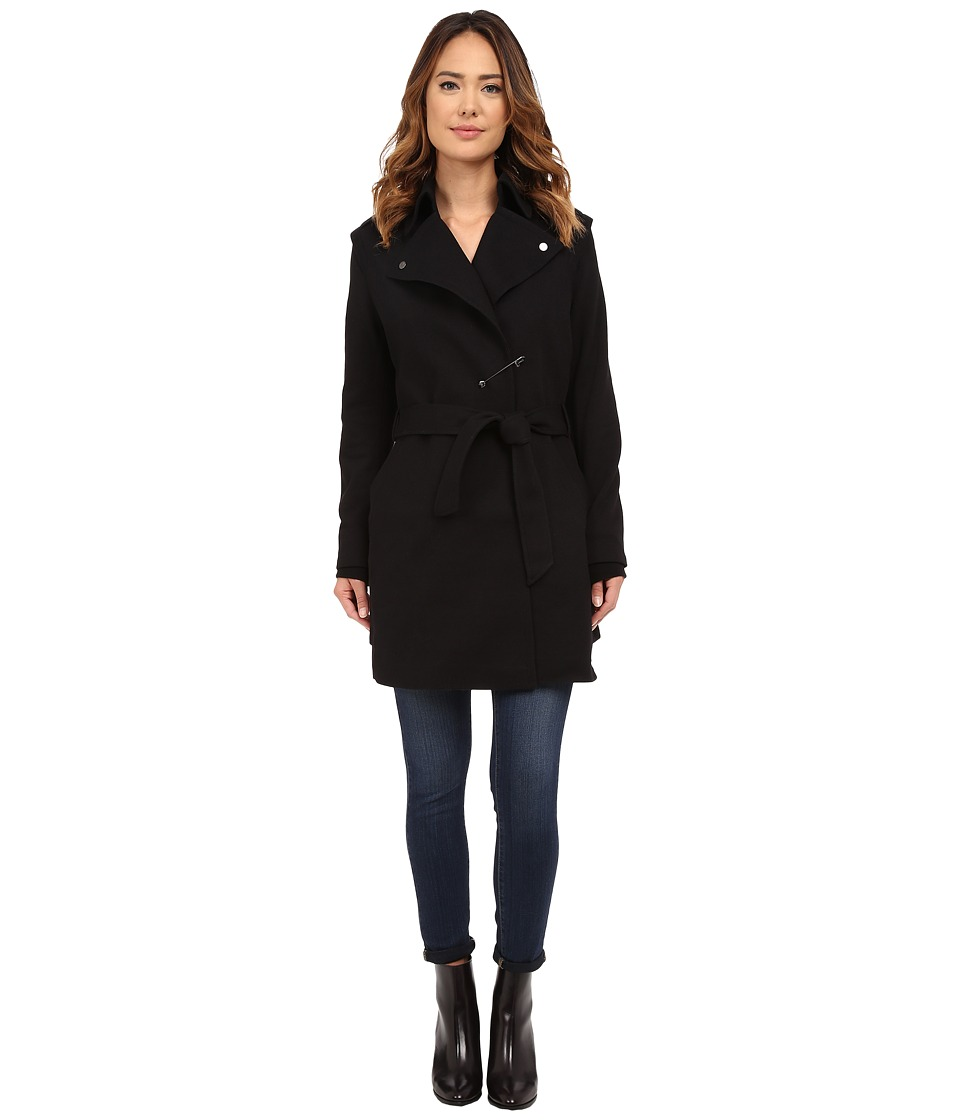 Diesel W Ain Overcoat Black Womens Coat