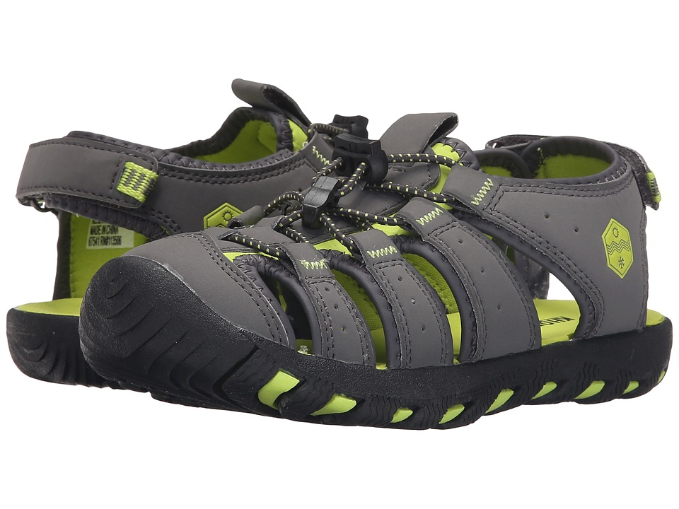 Khombu Kids Cheeky Little Kid/Big Kid Grey/Lime Boys Shoes