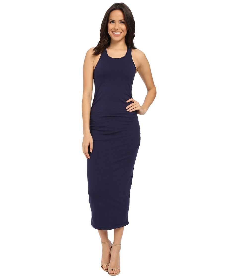Michael Stars - Racerback Dress w/ Shirring (Nocturnal) Womens Dress