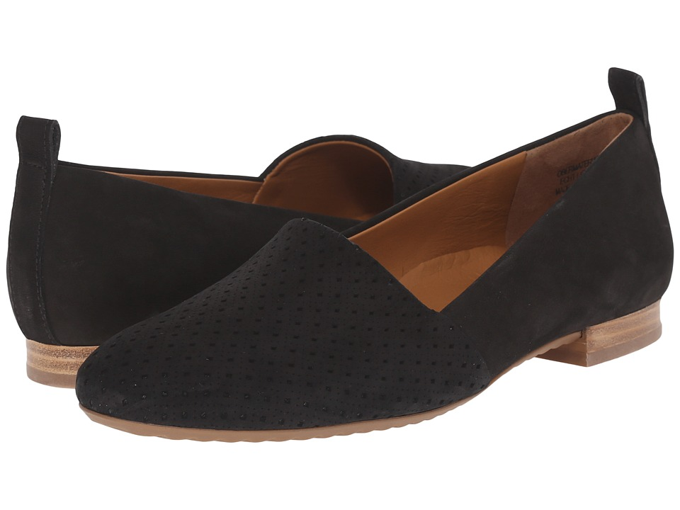 Paul Green Anita Flat Black Studded Womens Flat Shoes