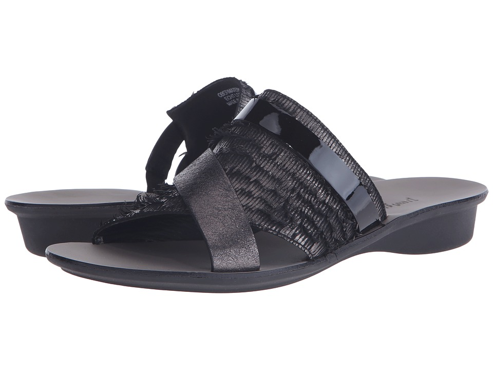 Paul Green Bayside Black Fray Combo Womens Sandals