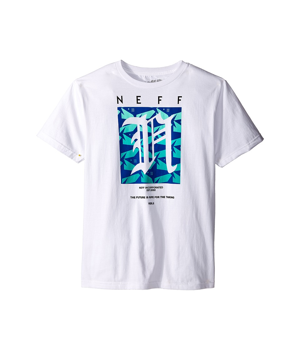 Neff Kids Shark Filled N Tee Big Kids White Boys T Shirt