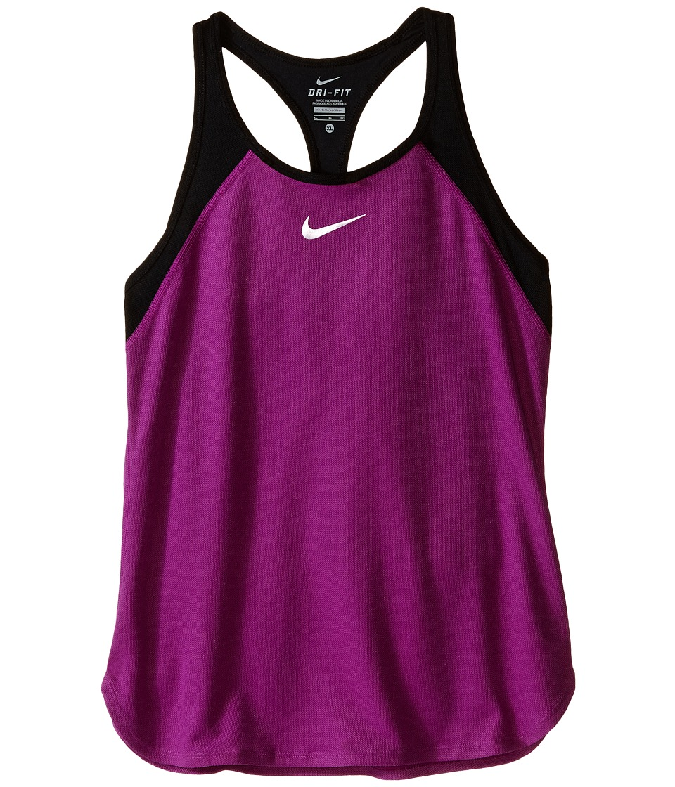 Nike Kids Court Slam Tennis Tank Top Little Kids/Big Kids Cosmic Purple/Black/White Girls Sleeveless