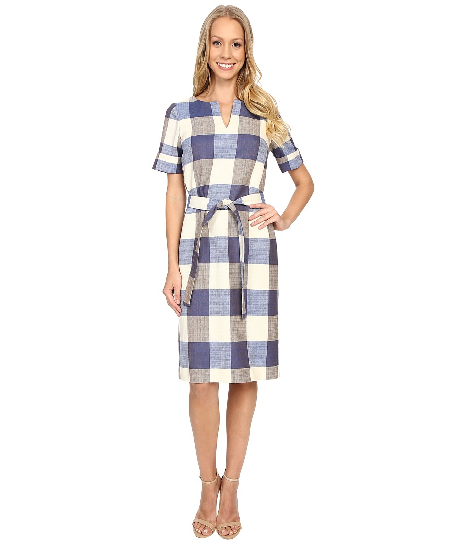 Pendleton Alex Dress Novelty Check Wool Linen Womens Dress