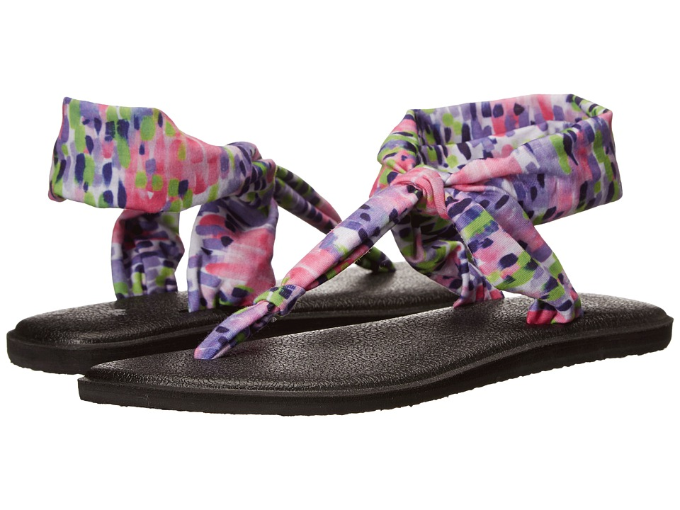 Sanuk Yoga Sling Ella Prints Iris Rain Womens Sandals