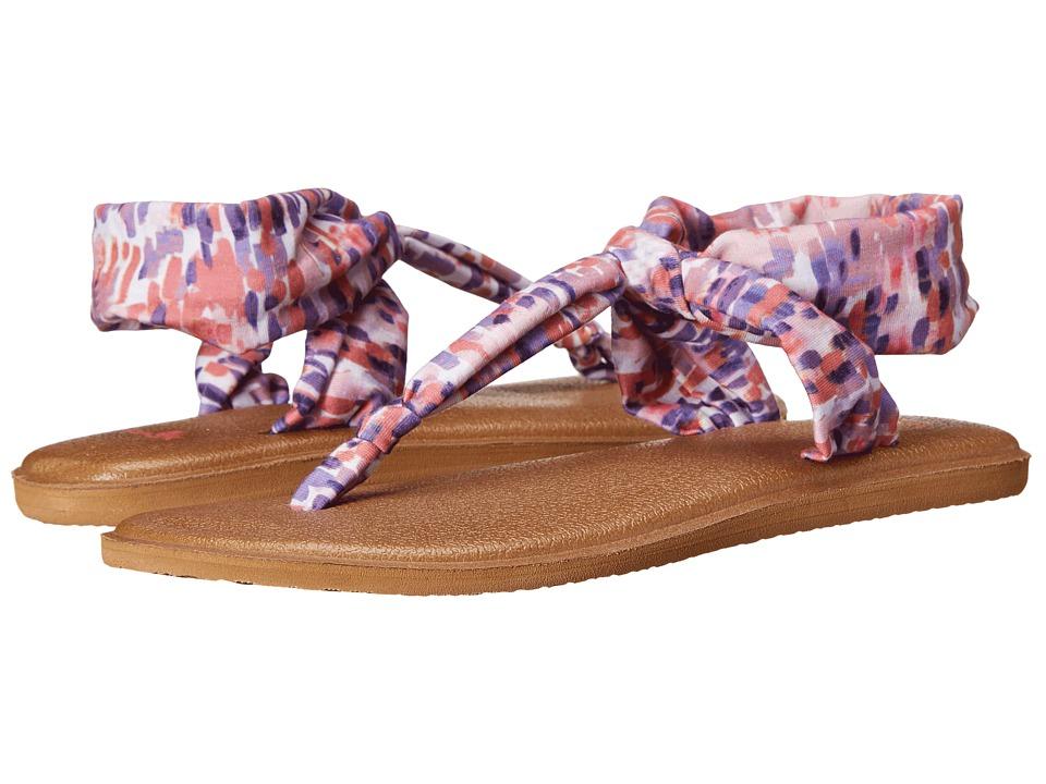 Sanuk Yoga Sling Ella Prints Spiced Coral Rain Womens Sandals